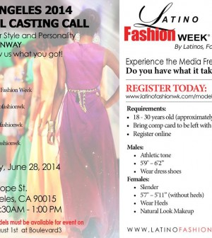 Latino Fashion Week Casting Call L A Let S Talk Los Angeles