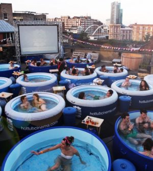 Simple But Magical Formula For An Unforgettable Night Out Is To Combine Great Films Amazing Es Lots Of Hot Tubs And Just Add Water